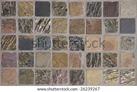 Slate Stone Tile Texture Background - stock photo