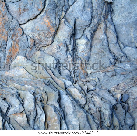 Slate textured rock background - stock photo