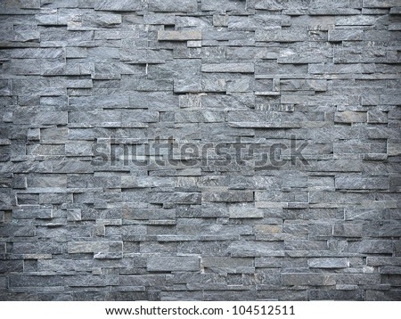 Slate Wall Background - stock photo