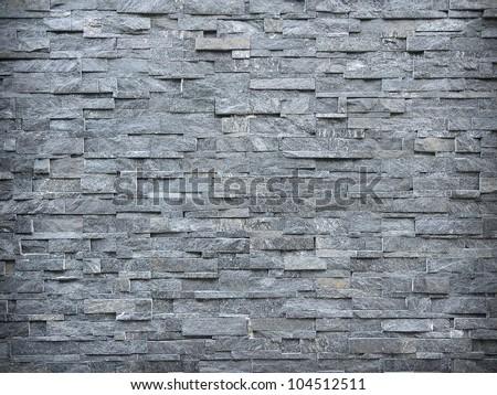 Slate Wall Background - stock photo