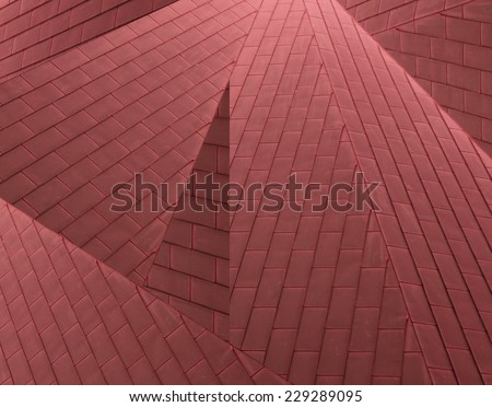 slated roof - stock photo