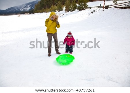 Sled refers to a smaller vehicle  and often one that is pulled by a human or propelled only by gravity.