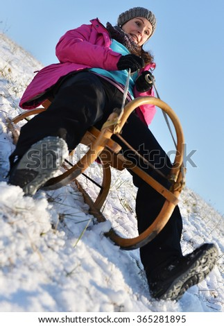 Sledding, winter fun, snow, family sledding