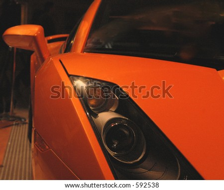 sleek italian sports car - stock photo