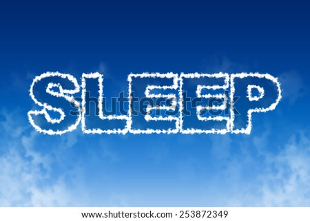 Sleep cloud word concept illustration - stock photo