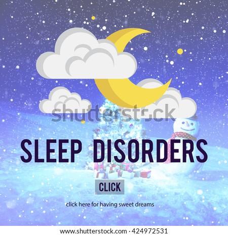 Sleep Disorder Disturbed Insomnia Depression Concept - stock photo