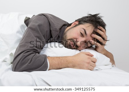 sleep time - sleeping problems - stock photo