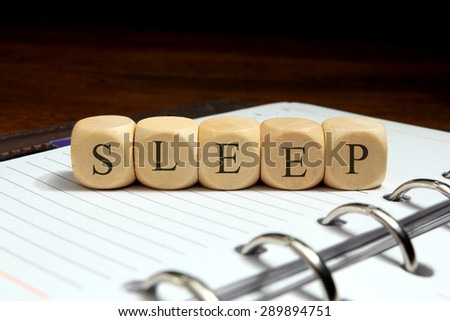 SLEEP word concept - stock photo