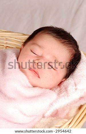 sleeping baby - stock photo