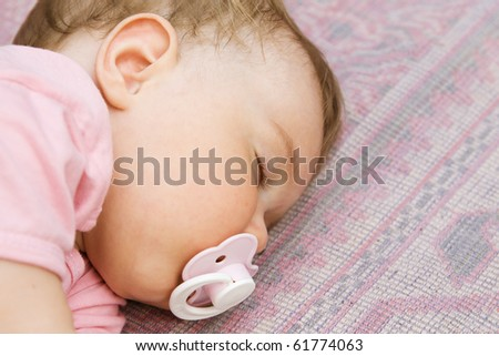 Sleeping baby - stock photo