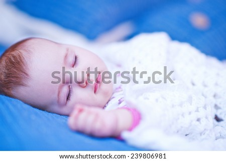 sleeping baby girl - stock photo