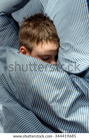 Sleeping boy. - stock photo