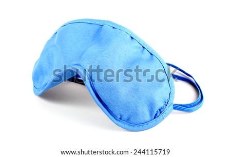 Sleeping mask on white background - stock photo