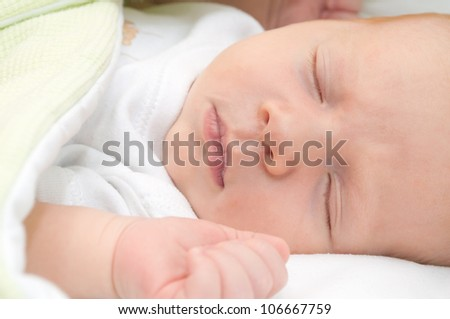 Sleeping Newborn Baby - stock photo