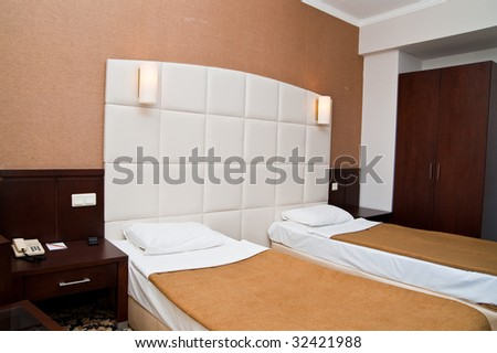 Sleeping room in a hotel
