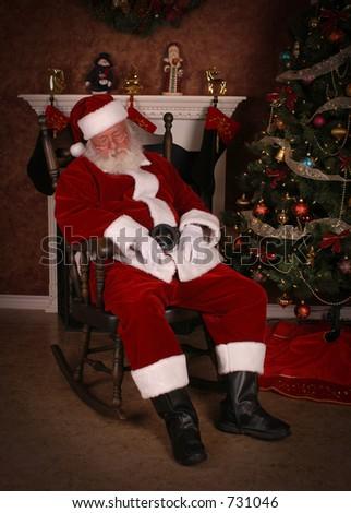 Sleeping Santa - stock photo