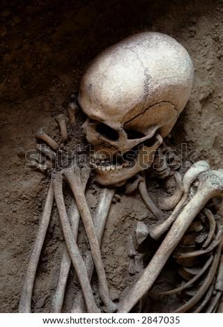 Sleeping Skeleton - stock photo