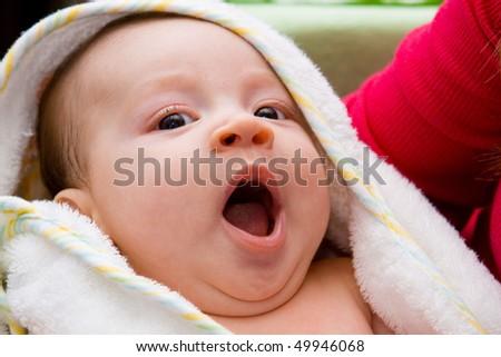 Sleepy baby - stock photo