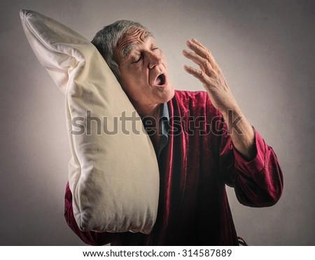 Sleepy man - stock photo
