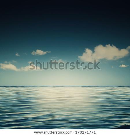 Sleepy sea, abstract environmental backgrounds - stock photo