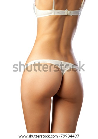 slender body  woman - stock photo