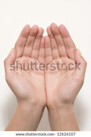 Slender Hands - stock photo