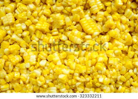 slice corn with butter