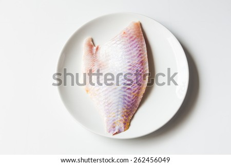 slice fresh mango fish