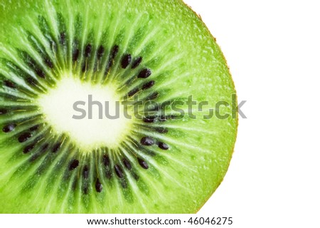Slice of an kiwi closeup - stock photo