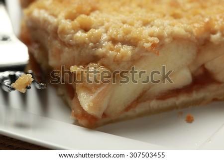 Slice of apple pie - stock photo