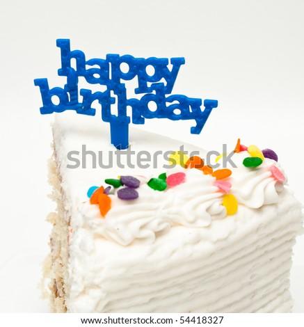 Slice of Birthday Cake - stock photo
