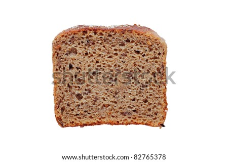 Slice of bread. - stock photo