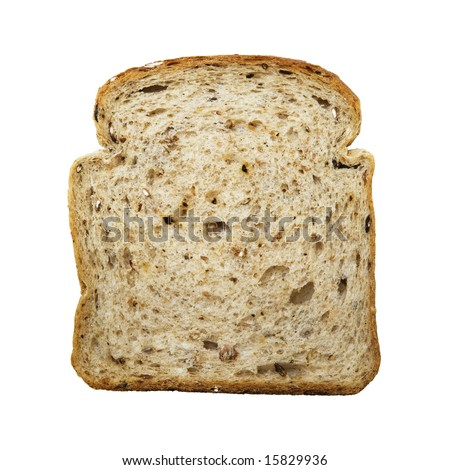 slice of bread isolated on white background - stock photo