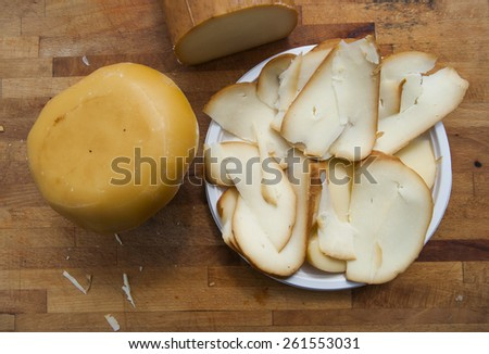 slice of cheese - stock photo