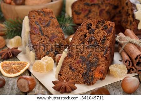 christmas fruit cake fruit slice