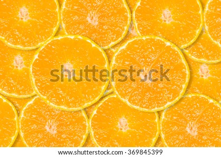 Slice of fresh orange background - stock photo