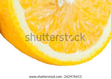 Slice of fresh ripe orange use for background. - stock photo