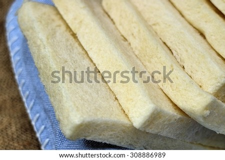 slice of fresh white bread with Strawberry Jam