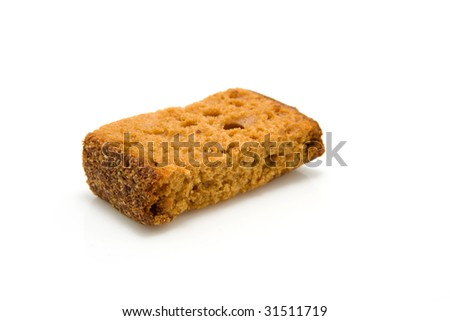 slice of ginger bread isolated on white background - stock photo