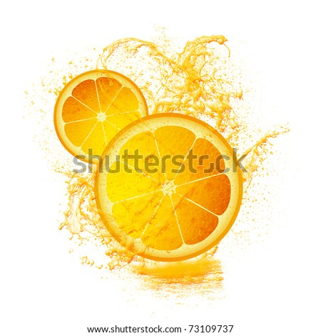 Slice of lemon isolated on white - stock photo