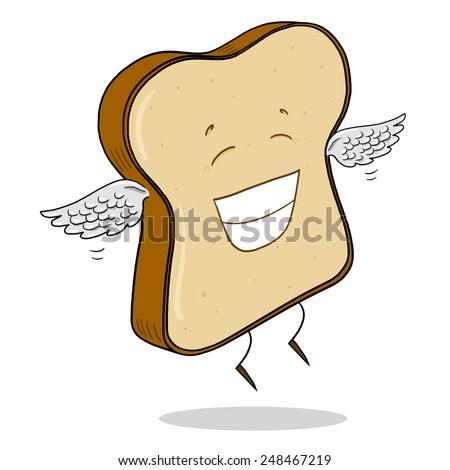 Slice Of Light Bread - stock photo