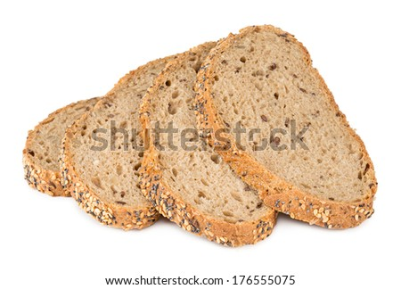 slice of multi grain bread - stock photo