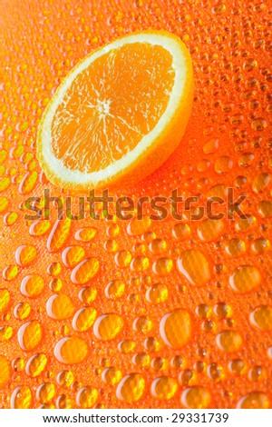 Slice of orange - stock photo