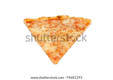 Slice of Pizza Isolated on a White Background