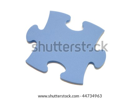 Slice of puzzle, isolated on white background