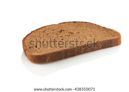 slice of rye bread - stock photo