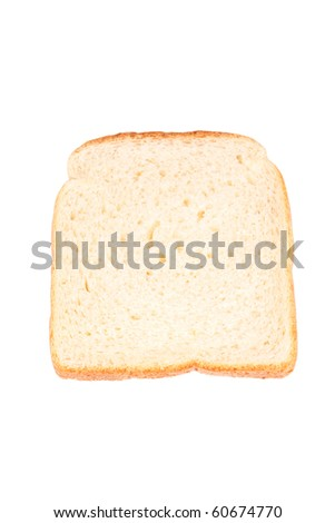 Slice of toast bread isolated on white background