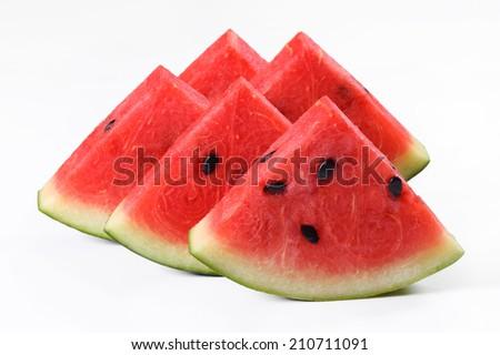 Slice of watermelon - stock photo