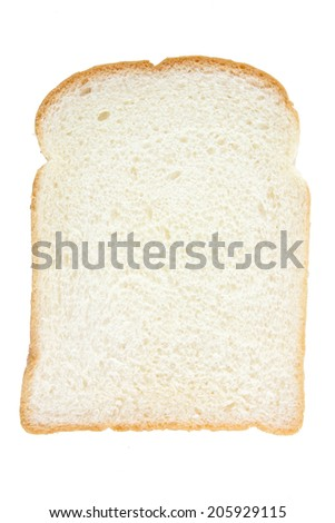 Slice of White Bread - stock photo