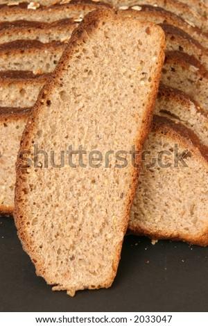 Slice of Whole Grain Bread - stock photo